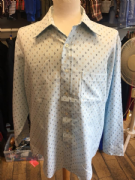 Blue, Gold Long Sleeved Patterned Shirt XL